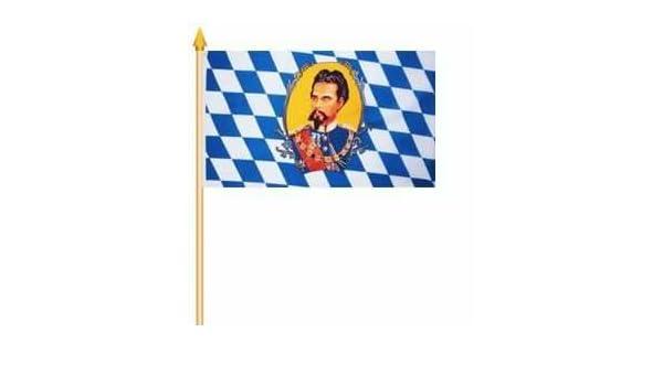 5 Stockflaggen Bayern L/öwen 30 45 cm von Yantec