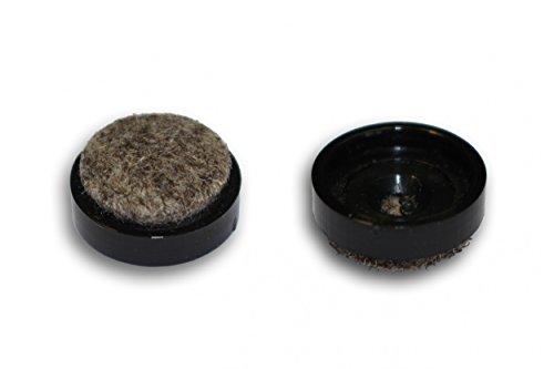 Preisvergleich Produktbild Wagner QuickClick® by peha® 20x Filz-Einsatz 'UltraSoft Glider' Ø=17-50mm (Basisteil erforderlich), Größe:Ø 20 mm
