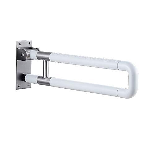 moo Faltbar Haltegriffe für Senioren Badewannengriff Edelstahl Hilfsmittel in Toilette Rutschfest für Waschbecken und WC Sitz Bereich 60cm