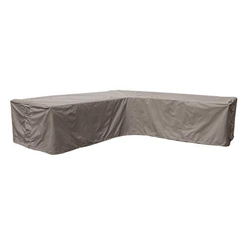 Raffles Covers NW-RHS250 Abdeckung für Lounge Eckset 250 x 250 x 90 H: 70 cm Abdeckung für Lounge Eckset, Schutzhülle in L-Form für Lounge Sets, Schutzplane, Regenschutz Ecklounge
