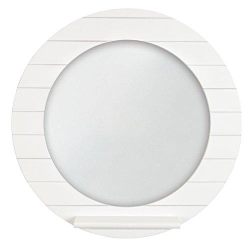 Innova M06460 Beachcomber Espejo Redondo con estantería, 10 x 40 cm, Color Blanco