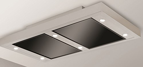 Silverline Altena (ou couverture Moteur) ALD 124 S Cagoule/120 x 70 cm/inox/verre noir