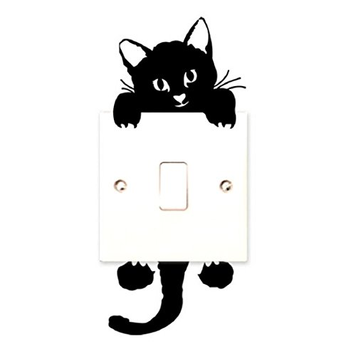 Vovotrade adesivi murali gatto interruttore della luce