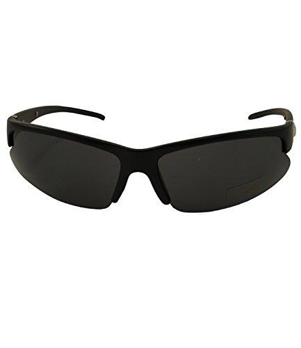 Coole Herren Sonnenbrille Sportbrille Radbrille Sport Biker Rad Brille UV400 in Schwarz Braun oder Silber SB09 (8808-Schwarz)