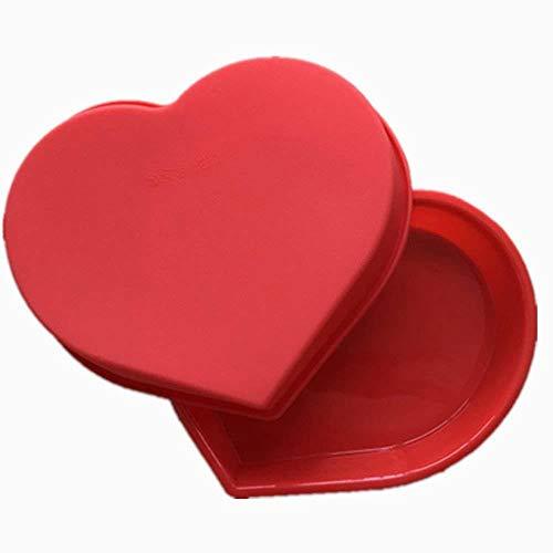 Ouken großes Herz Form Schimmel Silikon Kuchenform für Süßigkeiten Schokolade Backformen Küchenbedarf eisform