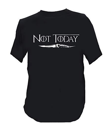 T Shirt Not Today, Arya Stark, Game of Thrones, Juego de Tronos, Series TV, Hombre - 2XL