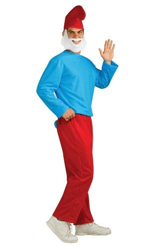 Papa Schlumpf Erwachsenen Kostüm Gr. XL Rubies ArtNr. 3887331