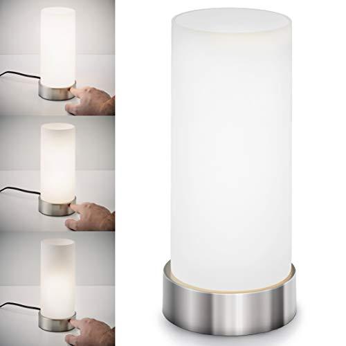 Lámpara de mesa táctil máx. 40 W E14, Altura 245 mm Ø11cm, 4 niveles de luminosidad, Lamparilla...