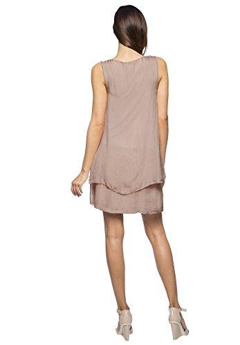 Kleid Rundhals Rosé