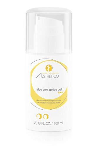 AESTHETICO aloe vera active gel - 100 ml - Anti-irritative, hydratisierende und kühlende Aloe-Vera-Maske, wirkt hautglättend, beruhigend und erfrischend -