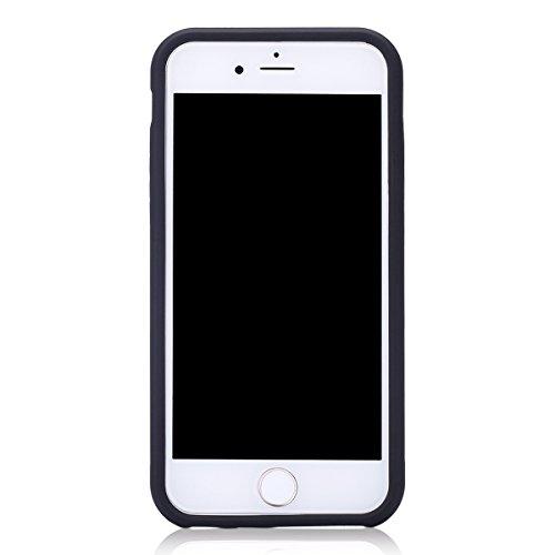 Ekakashop iphone 6 4.7 pollici Custodia, 2-in-1 ultra sottile-Fit molle flessibile di caso Cover posteriore per iphone 6S, Ragazza Ragazzo Crystal Clear Soft Cover gel TPU Silicone Protezione Sottile  A #5