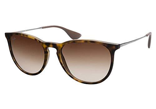 Ray-Ban RB4171 ERICA Unisex Gradient Aviator Sunglasses (Rubber Havana Frame, Brown Gradient Lens 865/13)