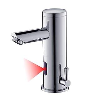 31AoNdvXwqL. SS324  - AuraLum Grifo Sensor Automático para Agua Fría y Caliente, Sin-contacto Mezclador para Lavabo de Baño