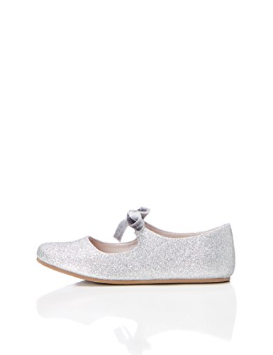 RED WAGON Mädchen Glitzer Mary Jane-Schuhe, Silber (Silver), 25.5 EU (Janes Mary Kinder)