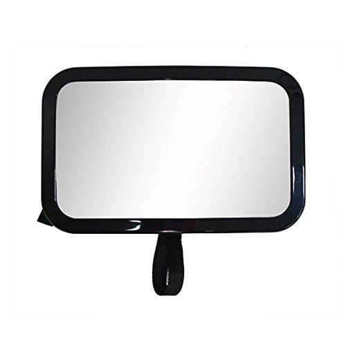 Hmeng Specchietto retrovisore per bambino sedile posteriore Infante In Sight facilmente regolabile anti-vibrazioni Monte disegno convesso e infrangibile vetro, di sicurezza e di qualità Premium