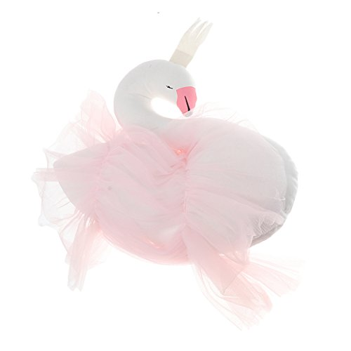 MagiDeal Exquisite Swan Design Baby Kids Stuffed Plush Throw Pillow Kids  Playroom Bedroom Decoration-Pink