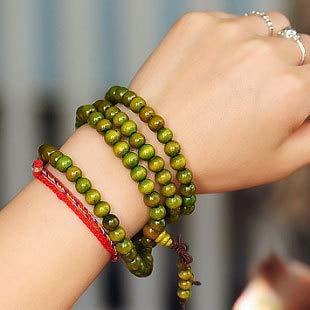 YCE Buddha Charme Großhandel Religion Zubehör Grün Holz Perlen 8mm handkette Buddha Armbänder 108 Männer/Frauen Geschenk Charme