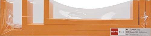 DURAline 1179689 Étagère Triple U, Bois, Orange, 42 x 10 x 10 cm