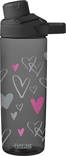 CamelBak Kinder Chute Mag 0.6L Trinkflasche Wasserflaschen, Sketched Hearts, 600ml -