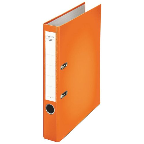 Centra 231135 Standard-Ordner (grauappe RC, mit PP-Folie kaschiert, A4, 5,2 cm Rückenbreite, Chromos) orange