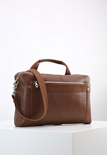 Borsa Da Uomo Pier One In Pelle Marrone O Testa Di Moro - Custodia In Pelle Business - Borsa Per Laptop Da 15 Pollici - Borsa Per Notebook Da Uomo Marrone