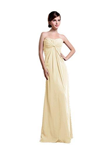 Bridal_Mall - Robe - Sans Manche - Femme Jaune - Jaune