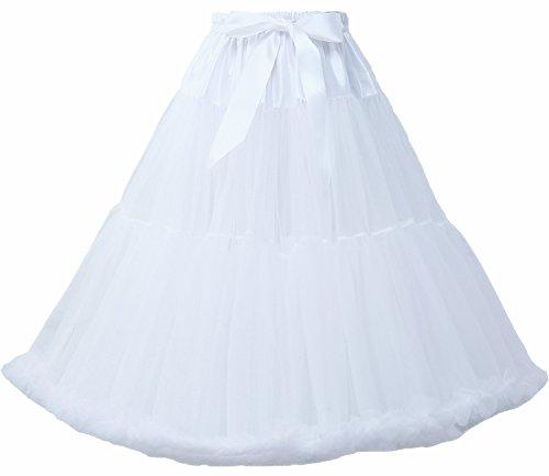 FOLOBE Frauen Tutu Kostüm Ballett Tanz Puffy Rock Erwachsene Luxuriöse Weiche Chiffon Petticoat Tüll Tutu Rock