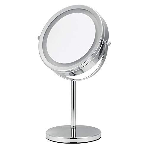 Wig girl Espejo de Mesa y Espejo de Mano de Espejo de Maquillaje de tocador de Doble Cara con Pantalla...
