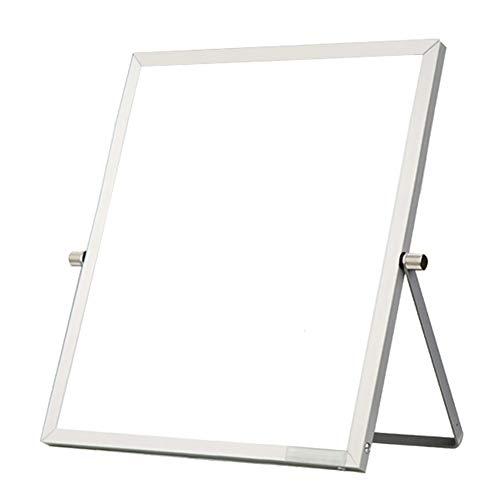 Ozzptuu Tragbares Whiteboard Whiteboard Whiteboard Schreibtisch-Staffelei 360 Grad wendbar To Do Liste Notizblock für Büro Zuhause Schule 7.09x9.45 inch/18x24cm