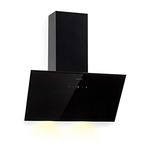 Klarstein Laurel 60 Black Edition - Extractor de humos, Campana extractora de pared, 3 niveles de extracción...