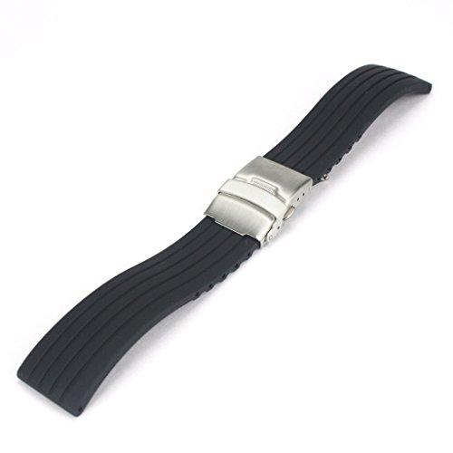 Forepin® 24 mm silicone cinturino di vigilanza di sostituzione del cinturino, vigilanza di gomma della (Cinghia Della Gomma Di Silicone)