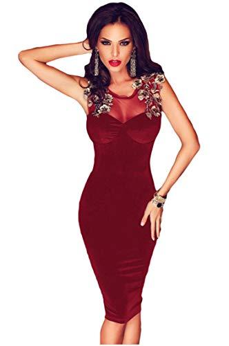 7aa3e4384f05 Ovender Vestiti Eleganti Corti Mini da Donna Ragazza Abito Vestito Donne  Ragazze Impero Formale Elegante Corto