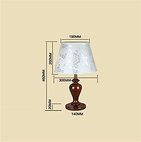NA Gyy Home Hotel Beleuchtung Chic Massivholz Schreibtischlampe, Schlafzimmer Nachttischlampe Hotel Gästezimmer Büro Light Hauptlieferung Wohnzimmer Lampen Student Lamm Dekorative Schreibtischlampe L - Lamm-fan