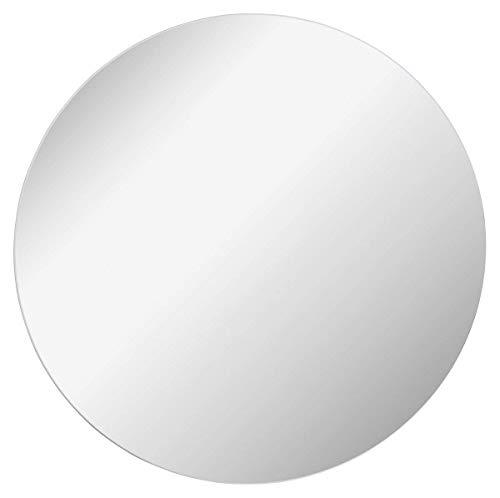 FACKELMANN Spiegel rund Ø 80 cm Mirrors/Wandspiegel mit Befestigung/Maße (B x H x T): ca. 80 x 80 x 1,5 cm/hochwertiger Badspiegel/moderner Badezimmerspiegel/Durchmesser 80 cm
