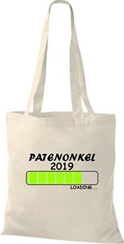 ShirtInStyle Stoffbeutel Baumwolltasche Loading PATENONKEL 2019 Natur