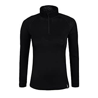 Mountain Warehouse Merino Womens Thermal Baselayer Top - Long Sleeves Ladies T-Shirt, Zip Neck Top, Lightweight, Easy Care Tee 16
