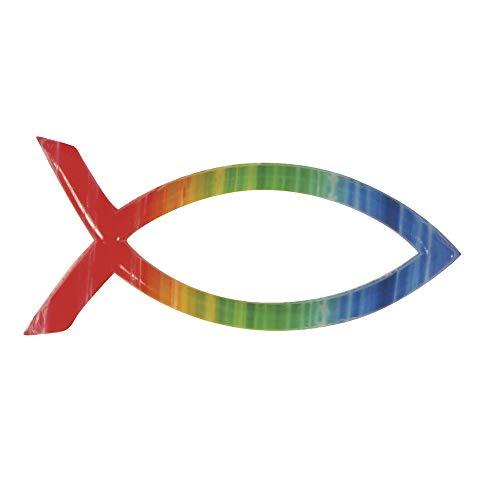 Rayher Hobby 31507000  Wachsmotiv christlicher Fisch Regenbogen, 4 x 2 cm, SB-Beutel 1 Stück