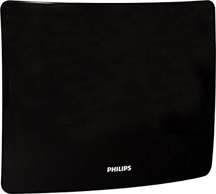 Philips sdv9401 a/27 HD Contour Amplified TV-Antenne - Geschwungene Flat Panel Design mit Ständer/Wall Mount - Indoor Vhf/UHF HDTV Antenne Bar - 50 Mile Range Philips Indoor Antenne