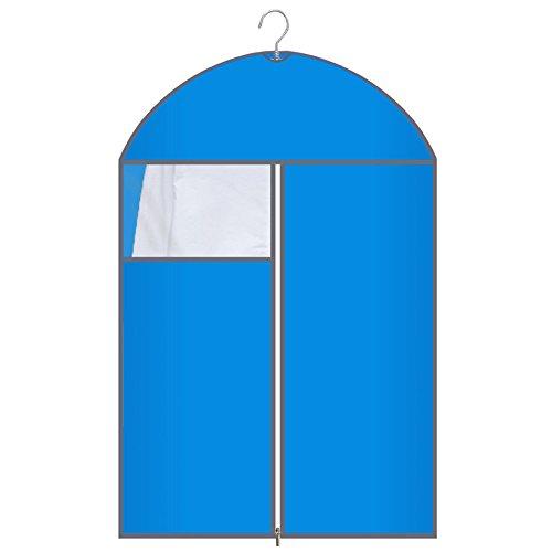 QFFL Sac de compression sous vide Coloré Transparent Dust Cover / Sac en tissu résistant à l'humidité / Manteau Wrinkle Wardrobe Sac de rangement / couverture de vêtements (un Pack de 6) Sac de protection ( Couleur : Bleu , taille : C )