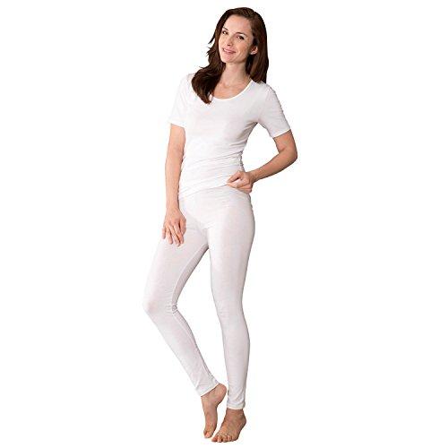 laritaM Unterhose, lang 2er-Pack Single-Jersey Weiß