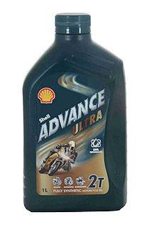 Shell Advance Ultra 2 T Lubrificante 100% Sintetico Per moto 2 Tempi 1 Litro Euro/lt 9,20