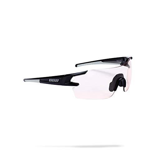 BBB Cycling Fahrradsonnenbrillen, Fullview Sportbrillen Mit Wechselgläsern, BSG-53, Glossy Schwarz