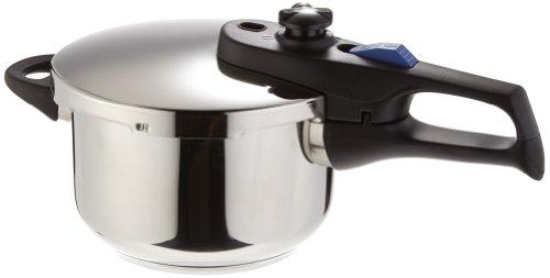 Elo Praktika XS - Olla a presión pequeña 2,7 litros, color plateado, acero inoxidable