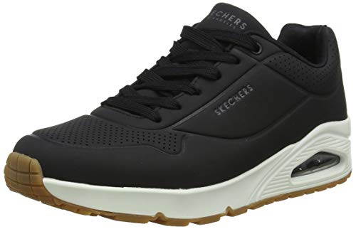 SKEAJ|#Skechers Herren UNO - Stand on Air Sneaker, Schwarz (Black Durabuck/Blk), 46 EU Blk-stand