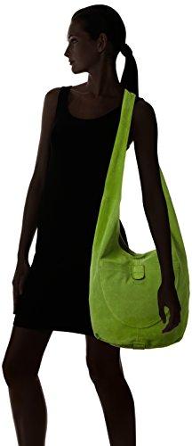 Think! Damen Bag Schultertasche, 30 x 28 x 43 cm Grün (APFEL 58)