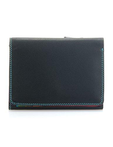 Mywalit - leder damen Geldbörse - medium tri-fold wallet- 106-4 - Black Pace -