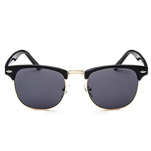Mojingyan occhiali da sole la metà degli occhiali da sole in metallo uomini donne designer occhiali a specchio vetro sun fashion leopard la guida occhiali da sole grigio oro
