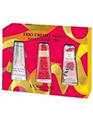 L'Occitane Trio Set Crèmes pour Mains Cherry Blossoms/Roses/Queens/Pivoine Flora