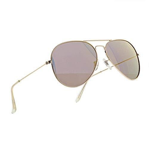 NWOUIIAY Gafas Sol Aviador Metal Polarizado 100% UV400