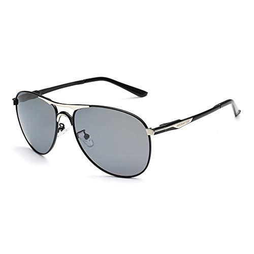 Yiph-Sunglass Sonnenbrillen Mode Angeln Fahren Frosch Spiegel Sonnenbrille Polarisierte Herren Sonnenbrille Klassische Brille (Color : Grau, Size : Kostenlos)